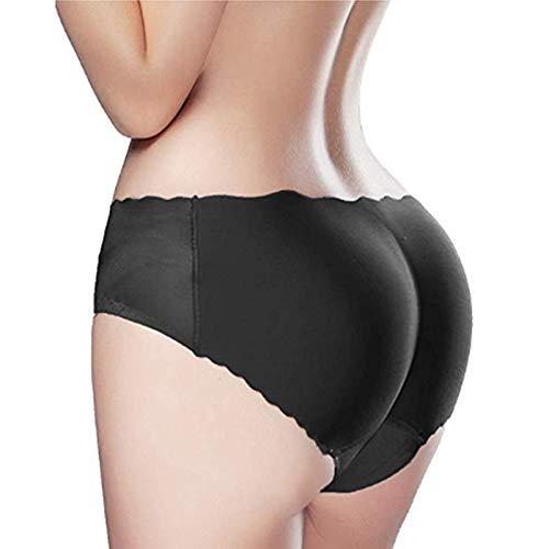 GirlsNCurls Padded Panty Women's Hips Lifter Padded Panties for Hips Enhancer Bottom Butt Shaper Lifter (Black; XL)