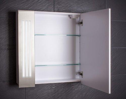 Spiegelschrank Galdem 80 cm – LOFT80 Spiegelschrank weiß - 2