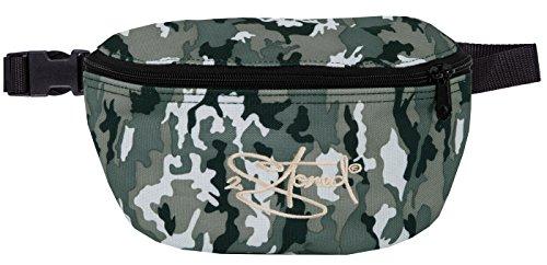 2Stoned Hüfttasche Bauchtasche mit Stick Classic Logo in Ice Camo für Herren und Jungen