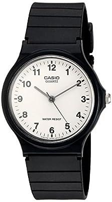 Casio Reloj Análogo clásico para Hombre de Cuarzo con Correa en Resina MQ-24-7BLLGF
