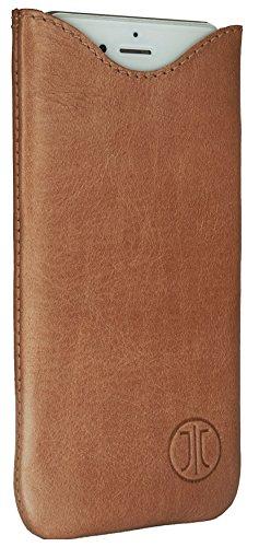 Berlin Design (JT Berlin SlimCase Leather für Apple iPhone SE / 5S, uvm. - ML cognac [Echtleder I Handarbeit I SlimFit Design] - 10138)