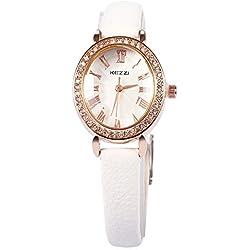 Leopard Shop kezzi Frauen Quarz Armbanduhr PU Leder Band Armbanduhr Weiß