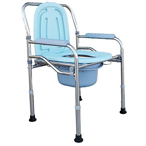 Preisvergleich Produktbild BP&S Toilettensitz für ältere Menschen,  höhenverstellbarer Toilettensitz für Duschen aus Aluminiumlegierung mit Eimer und gepolstertem Hocker