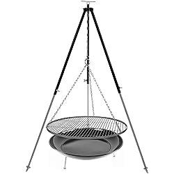 Dreibein Schwenkgrill Grillrost Edelstahl 70 cm 1,8 m Kettenhöhenverstellung und Feuerstelle