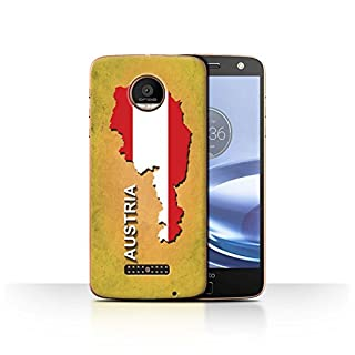 Stuff4 Phone Case/Cover for Motorola Moto Z Force/Droid / Austrian/Austria Design/Flag Nations Collection