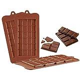 Forepin 3 Stück Silikon Schkoladenform Selber Machen DIY Pralinenformen Kuchen Süßigkeiten Jelly Eisform Tablett