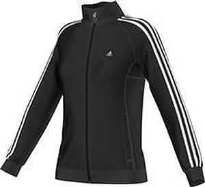 adidas Damen Trainingsjacke Workout, Schwarz/Weiß, XXS, S21057