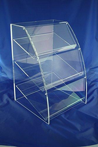 Vitrina de cristal acrílico Plexiglás Pastelería Pasteles Pasteles Dulces Caramelos pantalla métrica...
