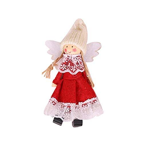 flower205 Weihnachtsplüsch Verzierungen, Weihnachtshängende Dekoration Neue Weihnachtsdekorationen Wings Engels-hängende Art Und Weise Innovativ Für Weihnachtsbaum-Anhänger