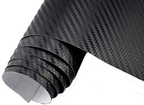 4€/m² Auto Folie - 3D Carbon Folie schwarz blasenfrei - 100 x 150 cm selbstklebend flexibel Car Wrapping Klebefolie