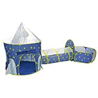 EBTOOLS Play Tents,3 in 1 Foldable Kids Game Playhouse Baby Toddler Pop Up Play House Children Play Tent with Tunnel and Ball Pool Playhouse for Kids Children Outdoor Indoor Activity
