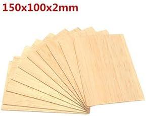 Generic 10pcs 150x100x2mm Balsa Wood Plate for Airplane Boat DIY Model