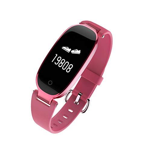 Intelligentes Armband, Eignungs-Verfolger mit Herzfrequenz-Blutdruck-Monitor, Bestes Geschenk,Pink ()