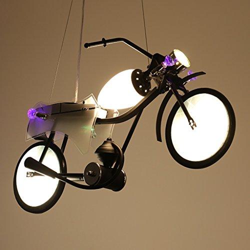 TangMengYun Retro lampadario industriale LED, lampada a sospensione per motocicletta di personalità, camera dei bambini ragazzi camera da letto caffè bar contatore ristorante lampadario Appesa Luce
