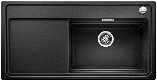 Blanco ZENAR XL 6 S DampfgarPlus, Küchenspüle, Granitspüle aus Silgranit PuraDur inklusiv Glasschneidbrett, 1 Stück, anthrazit-schwarz, 521227