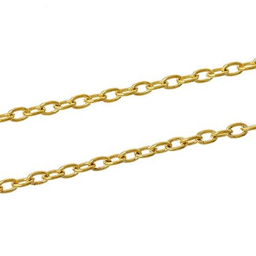SiAura Material 10m Kreuzkette/Schmuckkette, oval, vergoldet, ()