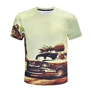 ZzSTX Ananas-T-Shirt Sommer Männer Frauen Plus Größe T-Shirt Sommer Tee Top