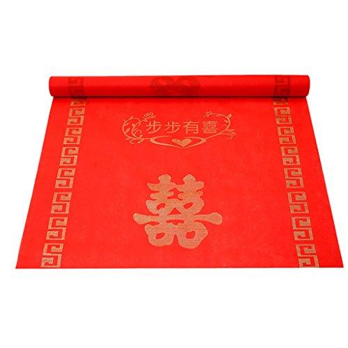 Hochzeits-Feier-chinesische Art-Art-Teppich-Abschlussball 1-1.2 * 10-100m weich (Farbe : A, größe : 1 * 50m) ()