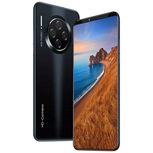 HSKB M33 Pro Smartphone ohne Vertrag Günstig 10 Core 6,1 Zoll Wassertropfen Bildschirm Face Unlock 4500mAh Akku 1600W und 3200W Dual Kamera WiFi GPS 8 GB ROM Dual SIM Android 9,1 (EU) (Schwarz)
