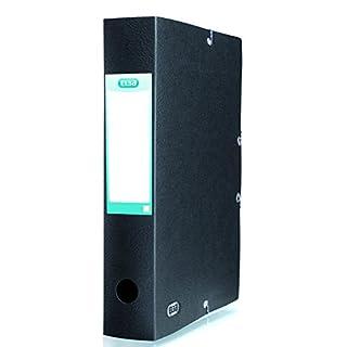 ELBA 100200463 Sammelbox Eurofolio Prestige Eckspanner mit Rückenbreite 6 cm für DIN A4 Dokumente in schwarz