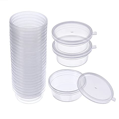 Sumind 24 Packs Foam Ball Containers Styrofoam Balls Plastic Boxes with Lid for 20 g Slime Snow Mud