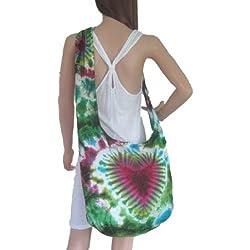 Tie Dye Bags - Bolso al hombro para mujer verde verde H33 xW47 xD23 (drop inc strap 94cm)