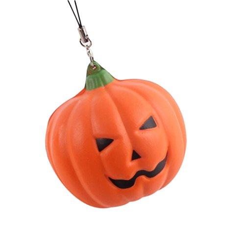 ingfa Cute weich Halloween Kürbis Slow Rising Stress Relief Squishy Squeeze Spielzeug Telefon Träger (Halloween-telefon)