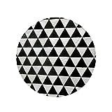 Teppiche Fußmatten Krabbeldecke Tatami Hotelteppich Rutschfester Europäische Geometrische Schwarz-weiß Wohnzimmer Sofa Couchtisch Esstisch Leder Matte Rgu (Color : Black, Size : 140cm*140cm*2cm)