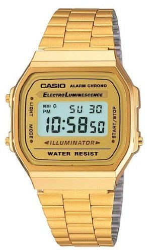 Casio Unisex Classic A168WG-9VT Vintage Watch Gold