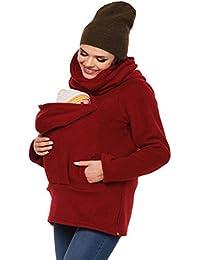 MissChild 3 en 1 Porte-bébé Maternité Polaire - Maternité Sweats à capuche  Femme - 1514ad061f2