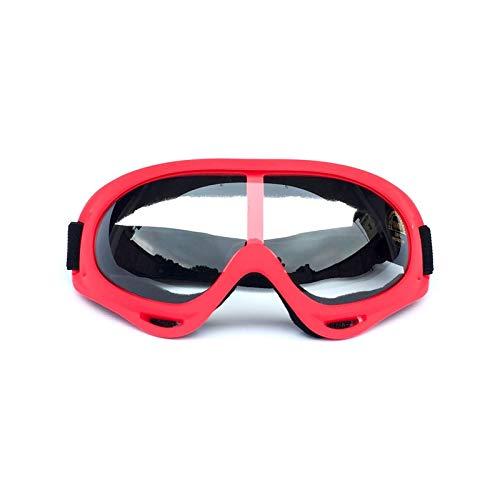 Radbrille Polarisiert Outdoor Sportbrillen Motorrad Sandstrahl Reiten Brille Ski Brille Helm Brille Red Transparent Damen Herren