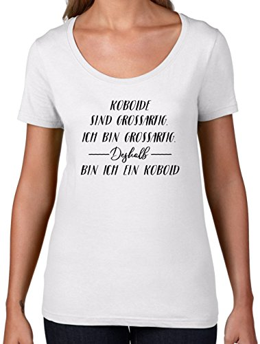 Ich Bin Grossartig - Kobold - Damen T-Shirt mit Rundhalsausschnitt- Weiß - (Kostüme Damen Kobold Tshirt)