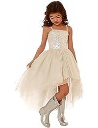 HotGirls Paillettes Flower Girls Pizzo Tulle Ball Gowns Abiti alta prima  comunione dd01835f0ef