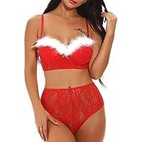 Longra★★★★Tallas Grandes de Navidad Ropa Interior Sexy Traje de Especias Tentación