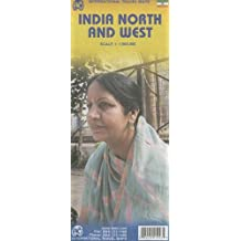 India North and West Travel Reference Map: 1:1,900,000