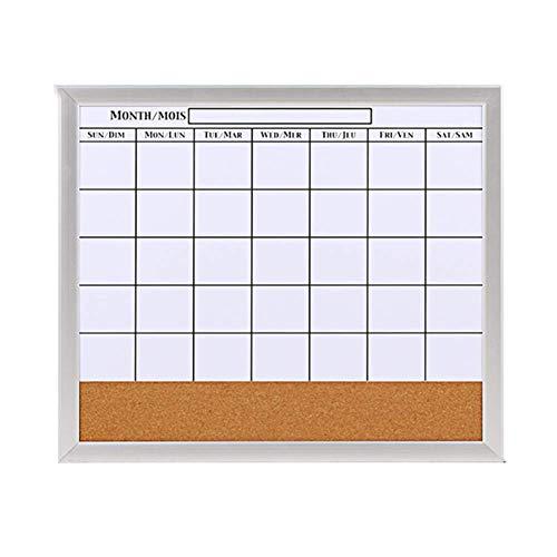 Q.AWB Message Board Signs Message Board Chalkboards CalendarSimple Magnetic Cork Board Whiteboard Hinweis Wohnzimmer Cafe, 2 Farben (Farbe: Weiß, Größe: 52,7 x 45 cm)