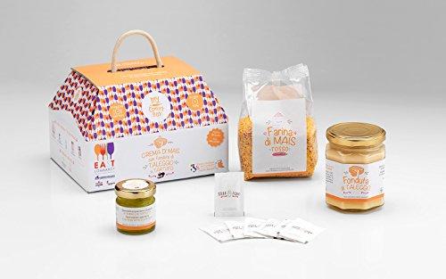 Il pranzo lombardo my cooking box x4 porzioni crema di mais con taleggio e tartufo - idea regalo cesto