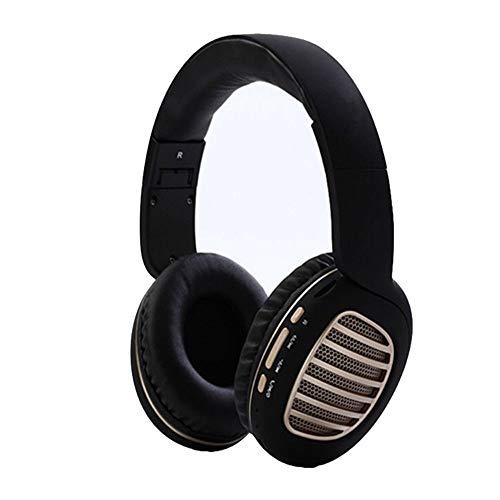 MNBEEJHVHDJ kopfgesteuerter Stereo-Klapphandy des Bluetooth-Kopfhörers, schwarz