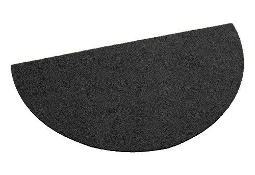 Fußmatte / Dekomatte / Schmutzfangmatte, halbrund, 40 x 80 cm, schwarz, Höhe 8 mm, waschbar, rutschfest, Sauberlaufmatte ,Teppich, Läufer, Türmatte in 10 Größen und 11 Farben möglich (Teppich-läufer 2 X 10)
