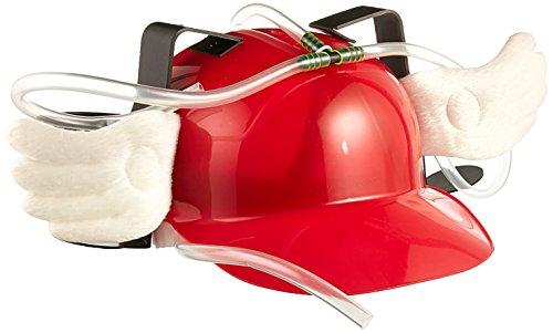 Fairly Odd Novelties Bier Soda Guzzler Helm Trinken mit Engel Flügel Party Hat, Red