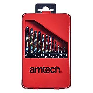 Amtech F1122 High Speed Titanium Drill Bit Set (13 Pieces)