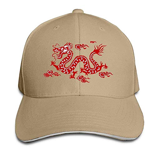 e6aeacd387d Chinese Dragon Red Unisex Adjustable Baseball Hat Caps