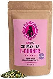 Slim Girlz Slim Tea 28 Giorni | Brucia Grassi | Per Le Donne | 85g Foglie Sciolte | Slim Tea Per Perdita Di Pe