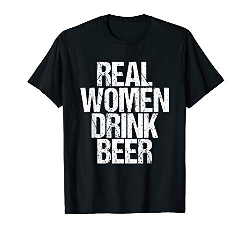 Patricks St Womens Kostüm Day - Real Women Drink Beer Lustiges Adult St Patricks Day Shirt