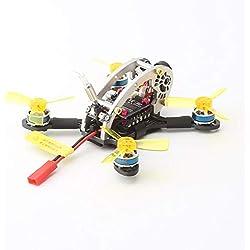 KNOSSOS V2 5.8G Cámara OSD sin escobillas Mini FPV RC Racing Drone PNP versión - Negro y Amarillo
