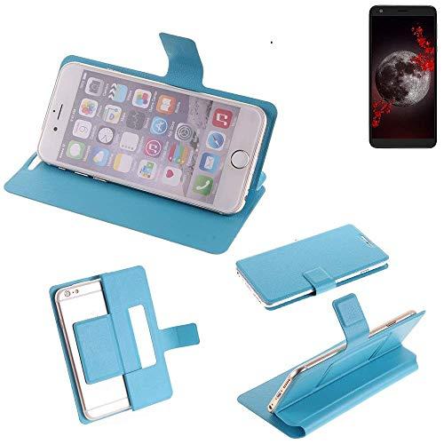 K-S-Trade Flipcover für Sharp Aquos B10 Schutz Hülle Schutzhülle Flip Cover Handy case Smartphone Handyhülle blau