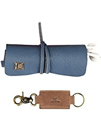 Genuine Leather Vintage Design Cords Wrap Organizer And Key Holder Pack