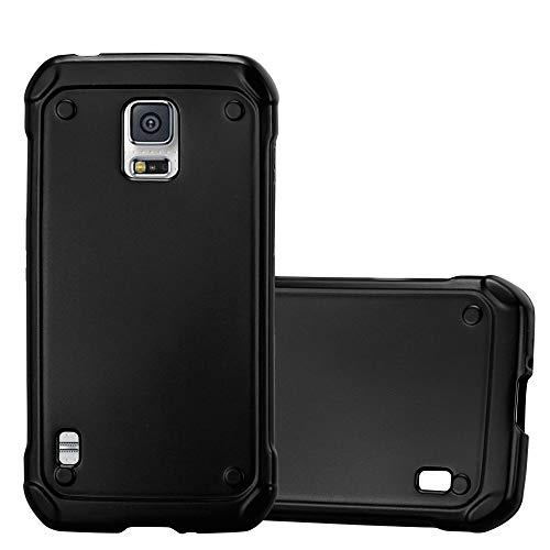 d70370ecb5a Cadorabo Custodia per Samsung Galaxy S5 Active in Nero Metallico - Morbida  Cover Protettiva Sottile di