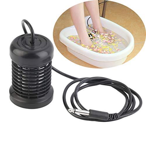 Detox-Fußbad-Reihen-runder Edelstahl-Reihen-Aqua-Badekurort-Fußmassage-Entlastungs-Werkzeug-Ionenreinigungs-Ion entfernen die Schmerz, schwarz