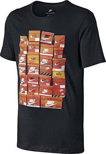 Nike M Nsw Tee Vintage Shoebox T-shirt für Herren, Schwarz (Black / Black), M (Tee Verziert Print)